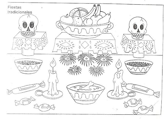 Dia De Los Muertos Dibujos Para Colorear