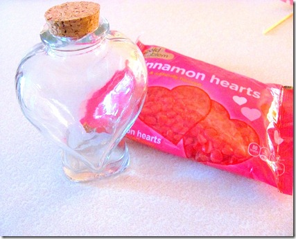 Heart Bottle and heart candy