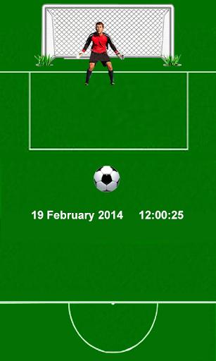 サッカーのゴール画面ロッカー