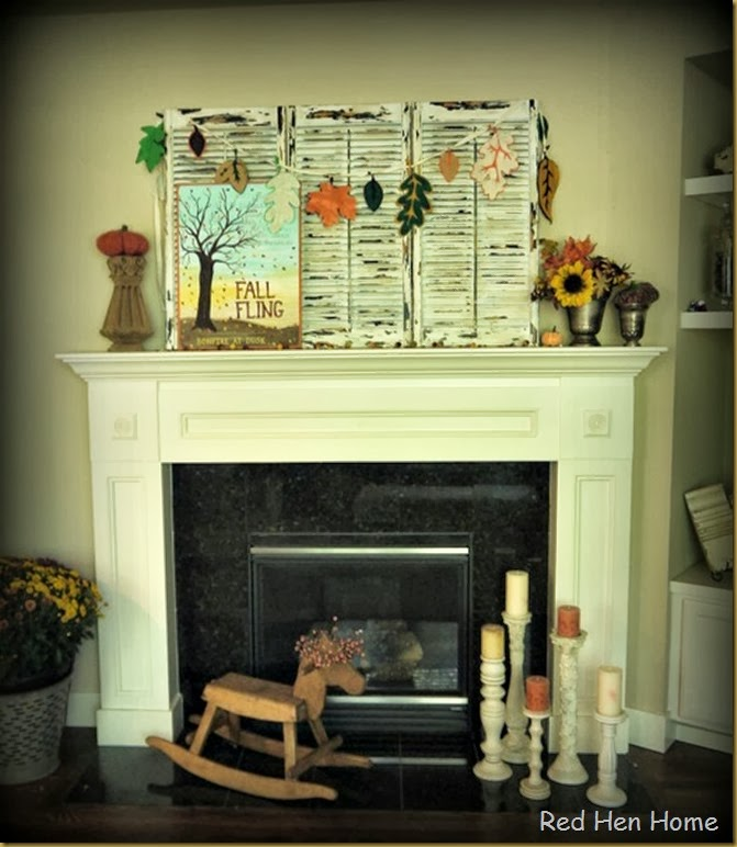 Red Hen Home Fall Mantel 9