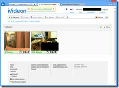 iVideon+パソコン+IPカメラ+USBカメラで監視カメラシステムを