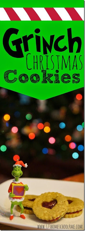 Grinch Christmas Cookies Recipe - These are such fun Christmas Cookies themed to The Grinch who stole Christmas! They are straightforward to make and very, very YUMMY!