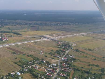 Aventura Card, avion usor: Autostrada Bucuresti - Ploiesti