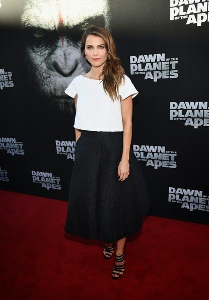 Keri Russell Dawn Planet Apes Premieres SF