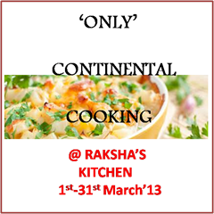 Only Continental Cooking