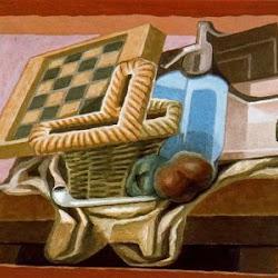 Juan Gris (1925): Panier et siphon. Dépôt du Musée national d'Art moderne, Centre de création industrielle. Paris. Francia. Musée des Années 30. Boulogne-Billancourt.