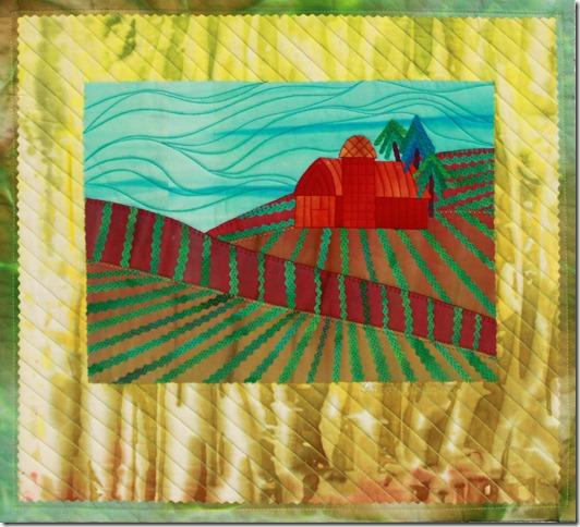 """Farm and Field 16""""x 17""""$150"""
