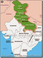 North-India-map