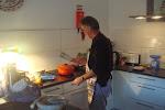 de keuken in vol bedrijf