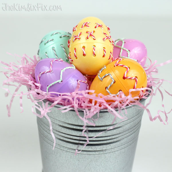 Easter eggs bakers twine