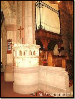 St Peter's Church Lymm - the font