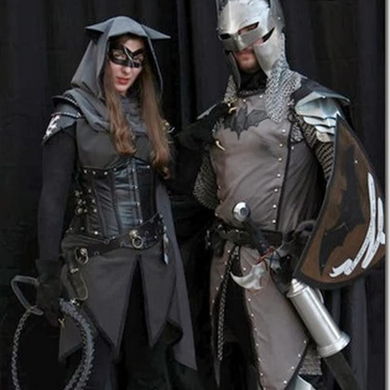 fotos de Disfraz de Batman y Gatubela al estilo medieval