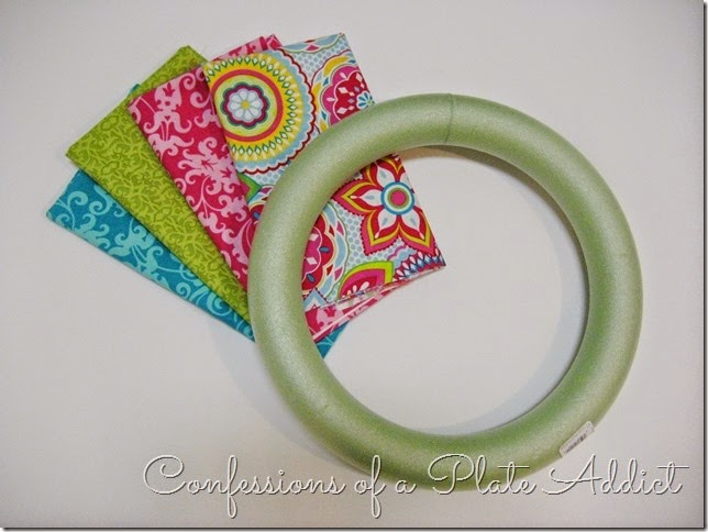 CONFESSIONS OF A PLATE ADDICT No-Sew Fabric Wreath Supplies
