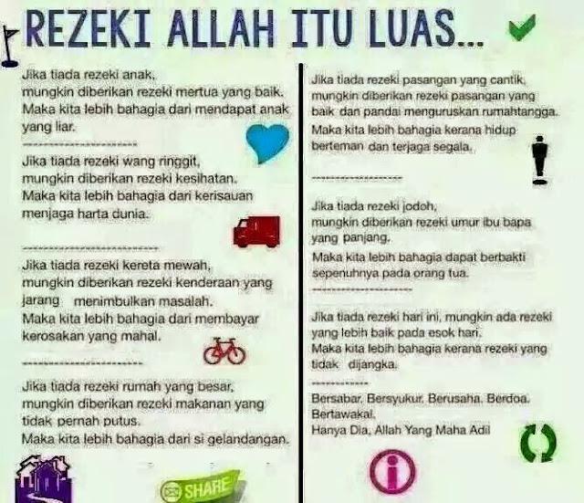 Maha Luas Rezeki Allah