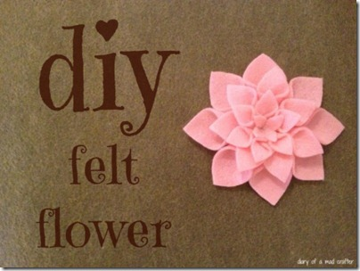Fabric Bows And More Diy Felt Flowers By Diary Of A Mad Crafter