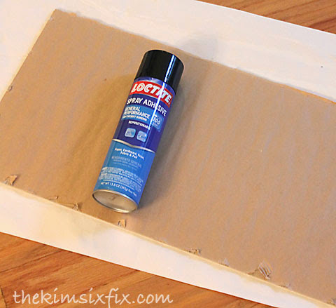 Spray adhesive for frame backing
