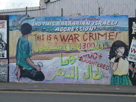 Obiective turistice Belfast: Eliberati Palestina !
