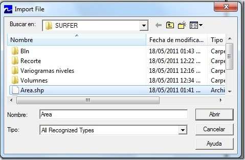 F41 Importando Shape  surfer