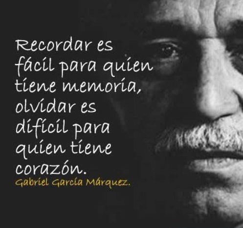 Recordar y olvidar, Gabriel García Márquez