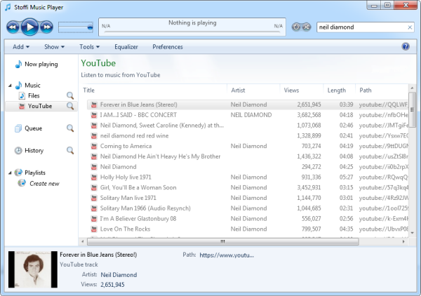 Stoffi: A Music Player That Looks Like Windows Explorer