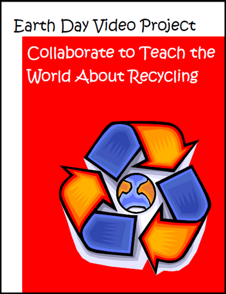 Earth Day video project sheet for a video about reducing, reusing and recycling. Free download from Raki's Rad Resources.