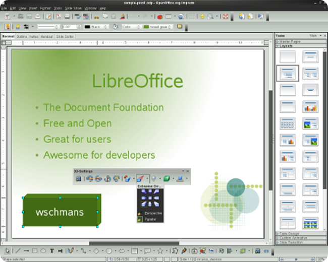 libreoffice extrusion-small
