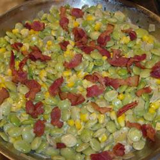 Creamy Succotash with Bacon, Thyme and Chives