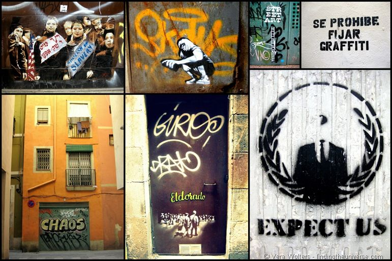 Policital street art Barcelona