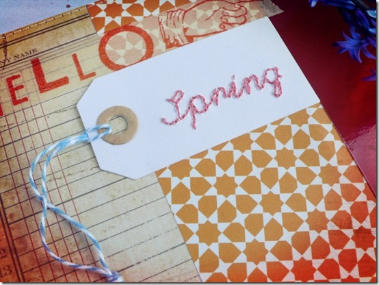 Anna Drai - big shot - scrapbooking - Hello Spring