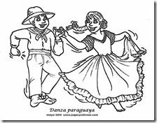 Colorear Bailes Paraguayos