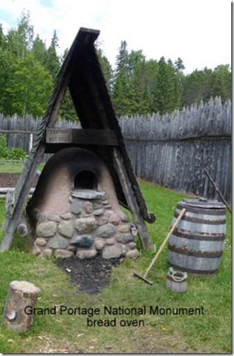 Grand Portage National Monument bread oven