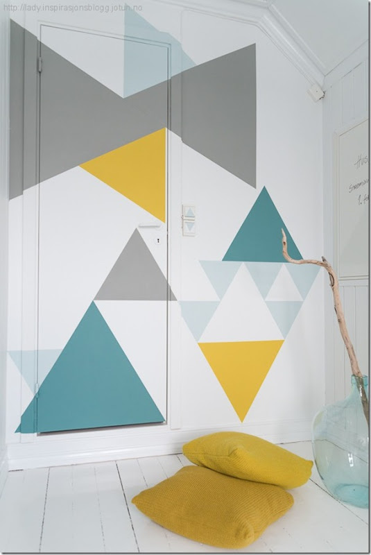 case e interni - tendenza decorazione  triangoli - Triangles 3