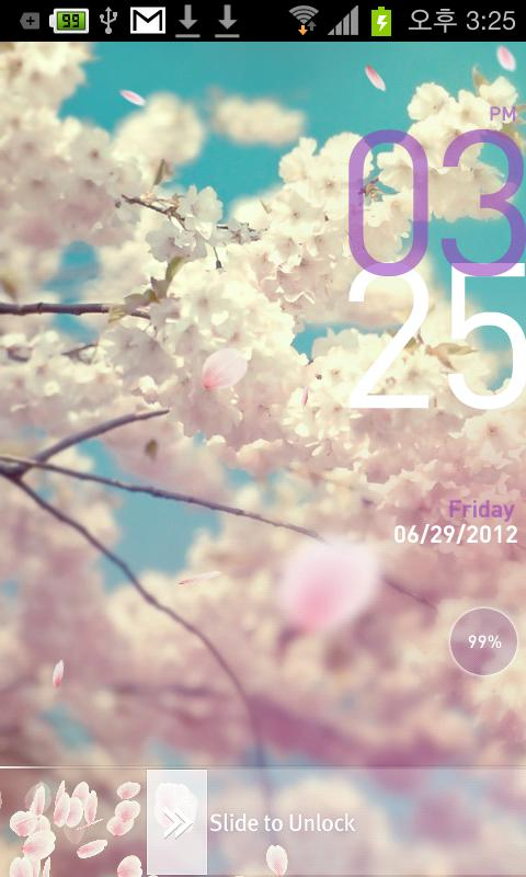 [Tia Lock] Sakura Free Theme - screenshot