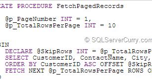 Microsoft Sql Server Tutorials: SQL Server Query Pagination