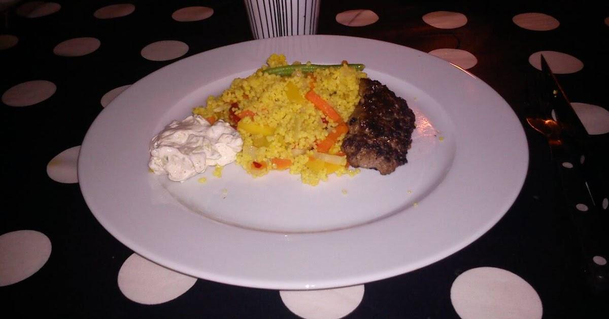 Kryddiga farsspett med couscous