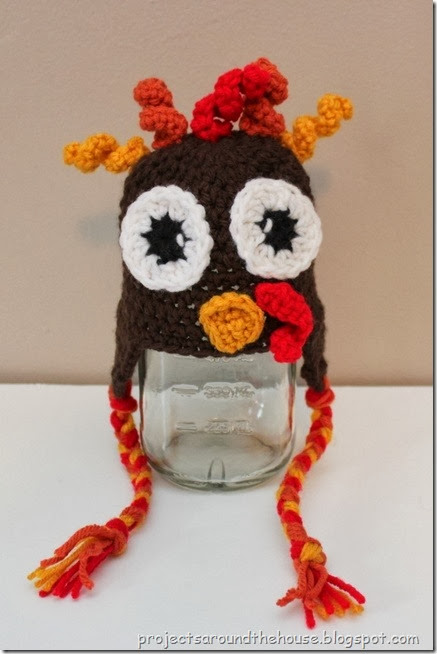 Crochet baby turkey hat pattern
