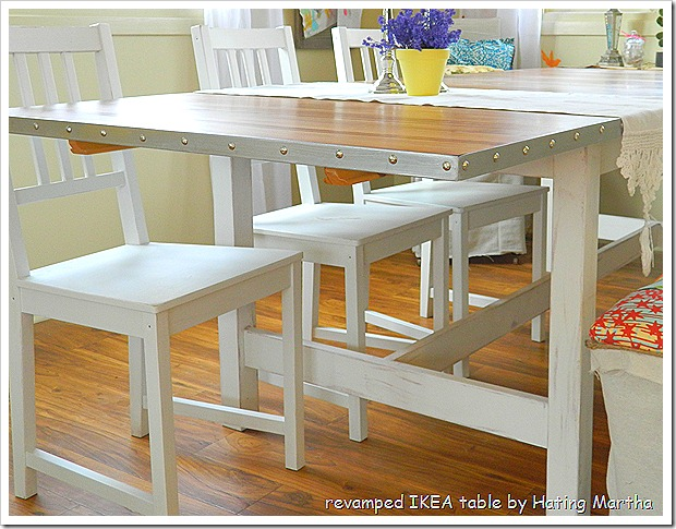 a simple IKEA table update with easy to follow instructions to create this charming table!