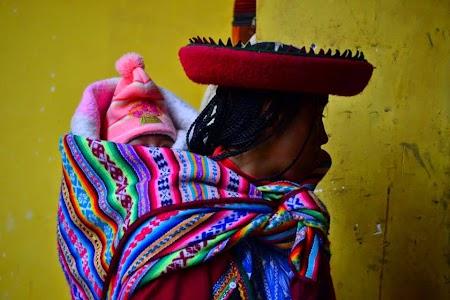 Valea sacra a incasilor: Femeie inca in Chinchero