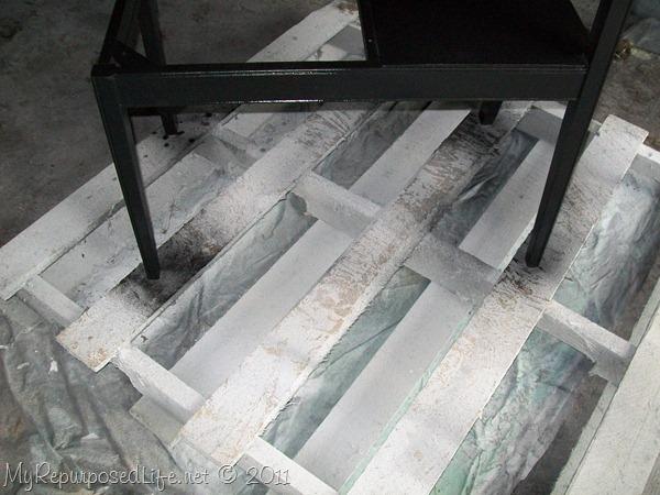 black vintage gossip bench