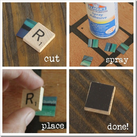 Use old Scrabble tiles to make these super cute and easy fridge magnets.