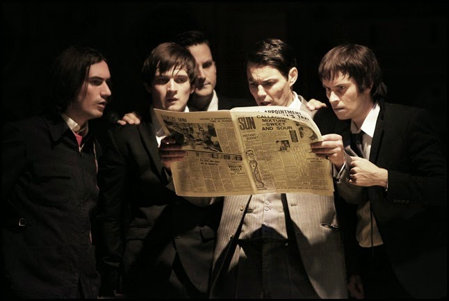 George Maguire, Ned Derrington, Dominic Tighe, Tam Williams and Adam Sopp in Sunny Afternoon. Photograph by Kevin Cummins