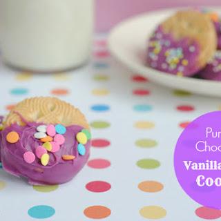 Purple Chocolate Vanilla Creme Cookies