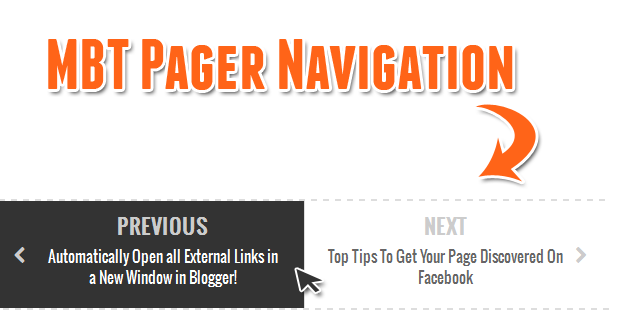 jquery pager navigation in blogger