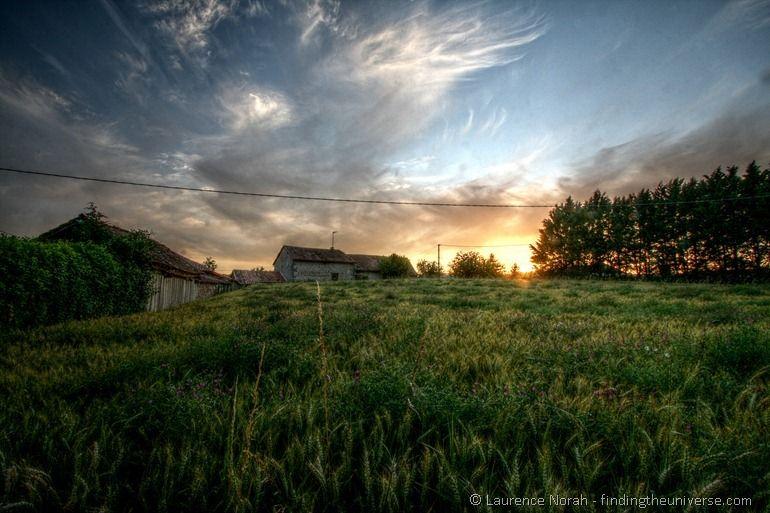 Wheatfield sunset France