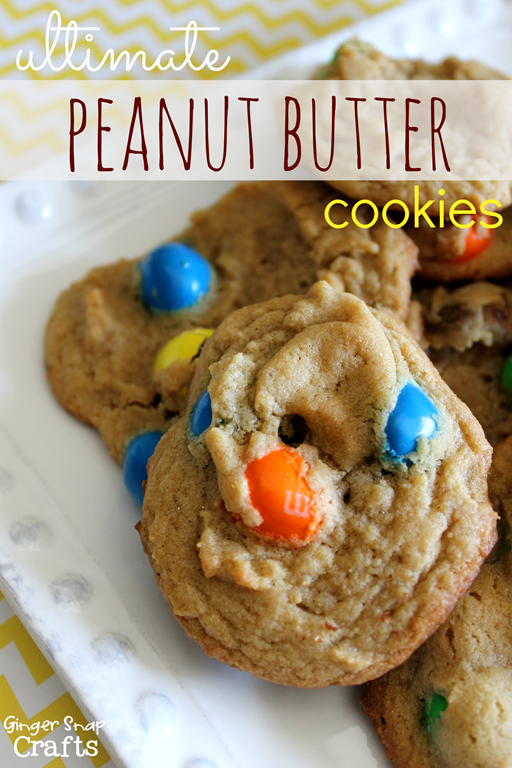 Ultimate Peanut Butter Cookies Recipe at GingerSnapCrafts.com #shop #BakingIdeas #cbias