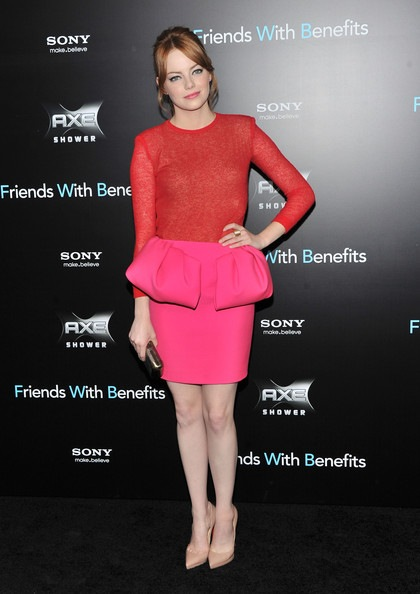 Emma Stone Friends Benefits New York Premiere