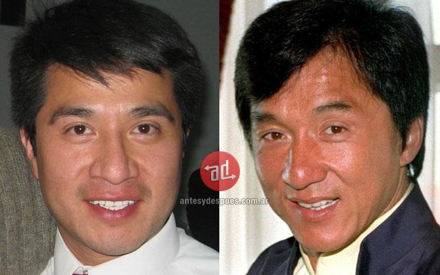 El parecido de Andrés y Jackie Chan