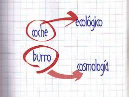coche es a ecología, lo que burro a cosmología
