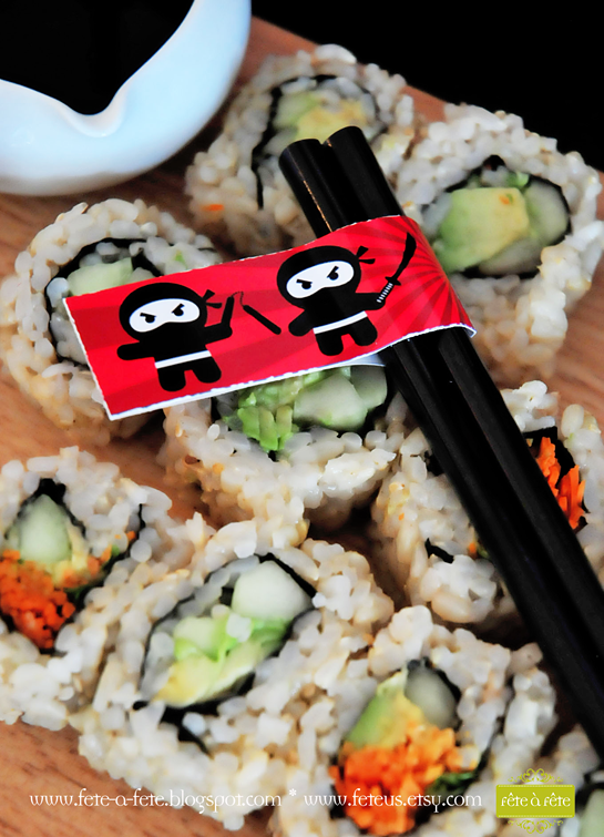 veg-sushi---Ninja-Party-by-Fete6