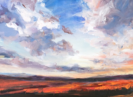 sky clouds painting